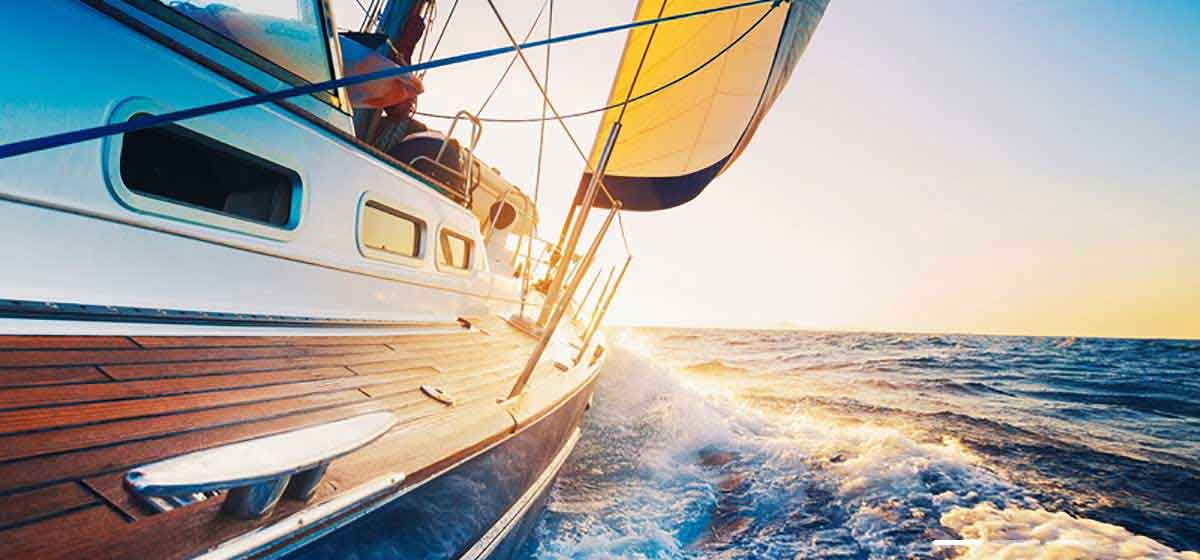 Privé Swiss Sail Boat Sunset